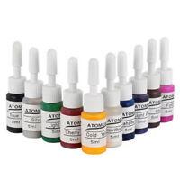 10 Basic Color Tattoo Ink Set Professional Tattoo Ink Pigment Kit 5ml/Bottle