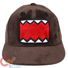 Domo Kun Plush Hat  Flat Bill Cap Snap Back Hat Licensed  Teen to Adults Size
