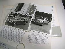 1985 ROLLS ROYCE MOTORS Dealer Package w/ B&W 8 x 10 Glossy Photos L@@K!