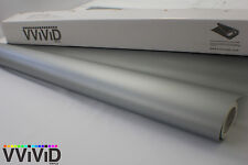 Vvivid 3M x 1.52M Matte Silver Vinyl Car Wrap Film