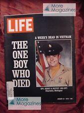LIFE magazine January 21 1972 Jan 1/21/72 VIETNAM DEAD RALPH NADER +++