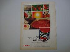 advertising Pubblicità 1969 POMODORI PELATI CIRIO