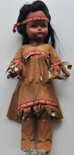 vintage AMERICAN INDIAN Reliable TOY DOLL 1960s w/ Clothes 1960s °