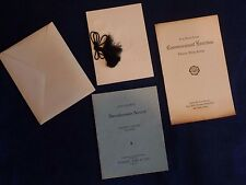 Vintage commencement programs & invitation, Lebanon Valley College, 1933