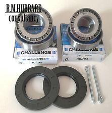 4 Challenge bearings, 2 seals, 2 split pins for Erde 141/142/143/151 Dax 147/157