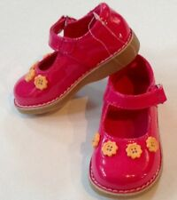Nwt Gymboree Raspberry Pink Toddler Girl Yellow Button Shoes Sz 03 $36.95