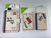 Passport Case & Luggage Tags Set