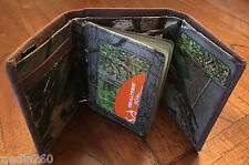 NEW~~IN GIFT TIN~~REALTREE HARDWOODS HD~~LEATHER TRIMMED~~CAMO~~TRIFOLD~~WALLET