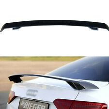 For Audi A3 S3 A4 A5 S5 A6 TT Trunk Spoiler Wing Carbon Fiber Color R Style