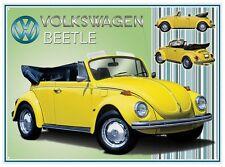 Volkswagen Beetle Cabriolet metal sign 400mm x 300mm  (rh)  REDUCED