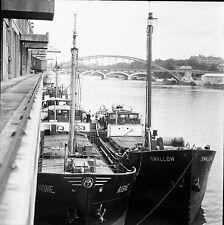 PARIS c. 1950 - Le Port de Commerce Bateaux - Négatif 6 x 6 - N6 P119