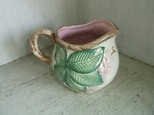FITZ and FLOYD 1989 HIBISCUS Creamer Pink Brown & Green