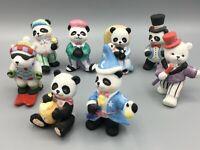 BC Bronson Collectibles Lot of 8 Bears Pandas And Polar Bears, Porcelain