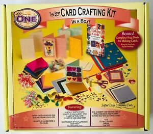 Card Crafting Kit in a Box Pickfair Arts & Crafts Paper Embellishments Tools +