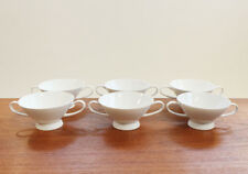 6x ROSENTHAL FORM 2000 WEIß SUPPENTASSE PORZELLAN SIX SOUP CUPS PORCELAIN WHITE