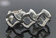 """$4,500 18k Yellow Gold Silver John Hardy Legend Naga Dragon Sapphire Bracelet 7"""""""