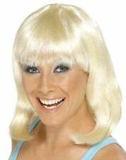 Damen Kostüm Cheerleader Perücke Blond Party Bob Perücke Von Smiffys