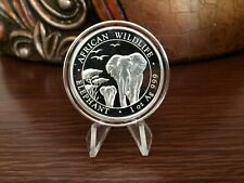 2015 African Wildlife Elephant 100 Shillings 1oz Fine Silver Coin in capsule