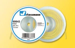 Viessmann 68643 Kabel, 0,14 mm², gelb, 25 m, Grundpreis 1 m = € 0,16