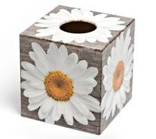 Gerberra Tissue Box Cover wooden handmade decoupaged uk