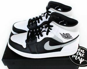 Nike Air Jordan 1 Retro Mid Shadow Grey White Black UK 5 6 7 9 10 11 US New