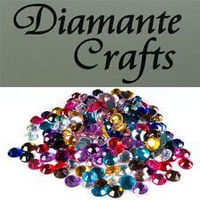 200 x 6mm Mixed Colours Diamante  Loose Round Flat Back Rhinestone Craft Gems