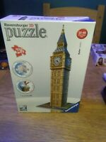 Ravensburger 12554 Big Ben 3D Jigsaw Puzzle - 216 Pieces good condition
