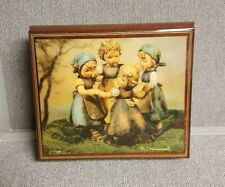 Vint Hummel Wood Music Jewelry Box Handmade Ercolano Italy Ring Around the Rosie
