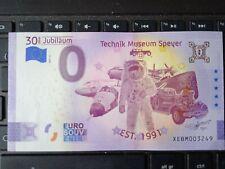 BILLET EURO SOUVENIR ALLEMAGNE 2021-6 TECHNIK MUSEUM SPEYER