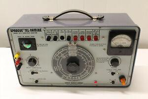 Sprague Tel-OhMike Capacitor Analyzer Model TO-5 SUPER CLEAN