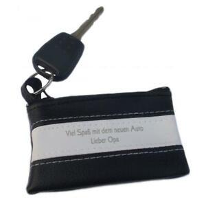 Schlüsseltasche für Autoschlüssel mit Gravur, Schlüsseletui Leder beschriften