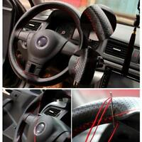 DIY Car Durable Car Styling Steering Wheel Cover With Needles  Thread Artificial