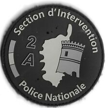 Ecusson PVC POLICE NATIONALE SECTION INTERVENTION 2A AJACCIO NOIR