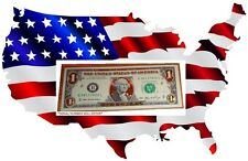 $1 - 22K GOLD DOLLAR BILL - HOLOGRAM COLORIZED - USA NOTES -LEGAL USA CURRENCY