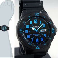 Casio MRW-200H-2BV Analog Watch Blue 100m WR Glows Day and Date Display New