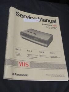 Bedienungsanleitung, Videorecorder Panasonic VHS NV-2000 in englischer Sprache