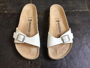 Birkenstock Madrid White Sandals Size UK 5 EUR 38 Regular Width
