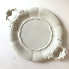 Red Cliff Ironstone White Underplate for Tureen Plate Handles Pottery USA Vtg
