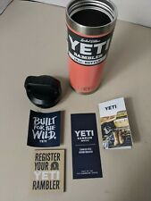 NEW! - AUTHENTIC Yeti 18 oz LE Coral Rambler Bottle Limited Edition