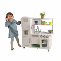 Kitchen Vintage Playset Toy Pretend Play White Oven Phone Sink Kids Chef Cook