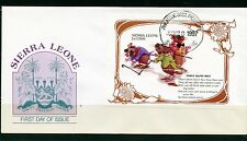 SIERRA LEONE  1997 THREE BLIND MICE  SOUVENIR  SHEET FIRST DAY COVER