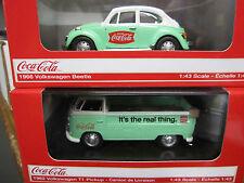Coca-Cola 1966 VW Beetle  Green & 1962 VW Pickup Green  1:43 scale
