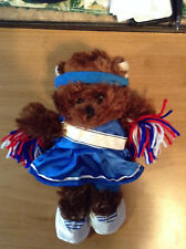 "New 8-10"" Soft Brown Teddy Bear * Cheerleader Outfit *+ Accessories Complete # B"