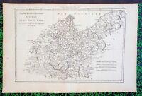 XVIII ème Allemagne Carte Cercle Haute Partie Septentrionale Saxe par Bonne 1780