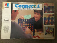 Vintage Connect Game By MB Games Complete Classic Extra Counters Box 604 454502