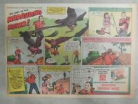 Nabisco Cereal Ad: Hawk Attack ! Shredded Wheat 1940's Size: 7 x 10 inches