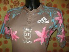 Ancien MAILLOT ADIDAS STADE FRANCAIS PARIS RUGBY TS FLEURS Jersey Top 14 FFR