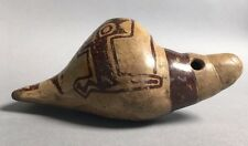 Ancient Precolumbian Terra Cotta Nazca Shell Whistle? Ex Alvin Cohen Collection