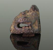 More details for superb viking zoomorphic bronze dagger pommel - 10th century ad 021