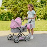 Pink Silver Cross Dolls Pram Ranger Puschair Stroller & Changing Bag Girls Toy